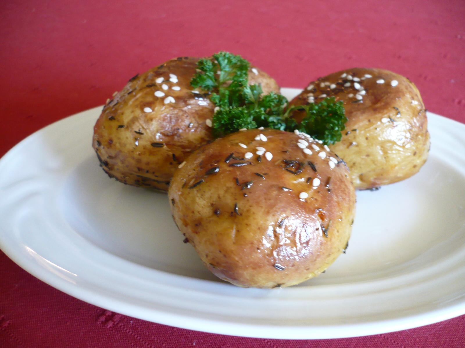 Pečené kořeněné brambory