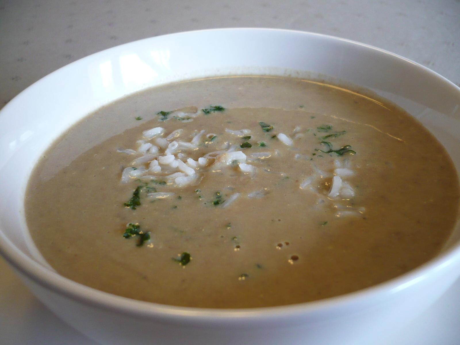 Játrová polévka s rýží