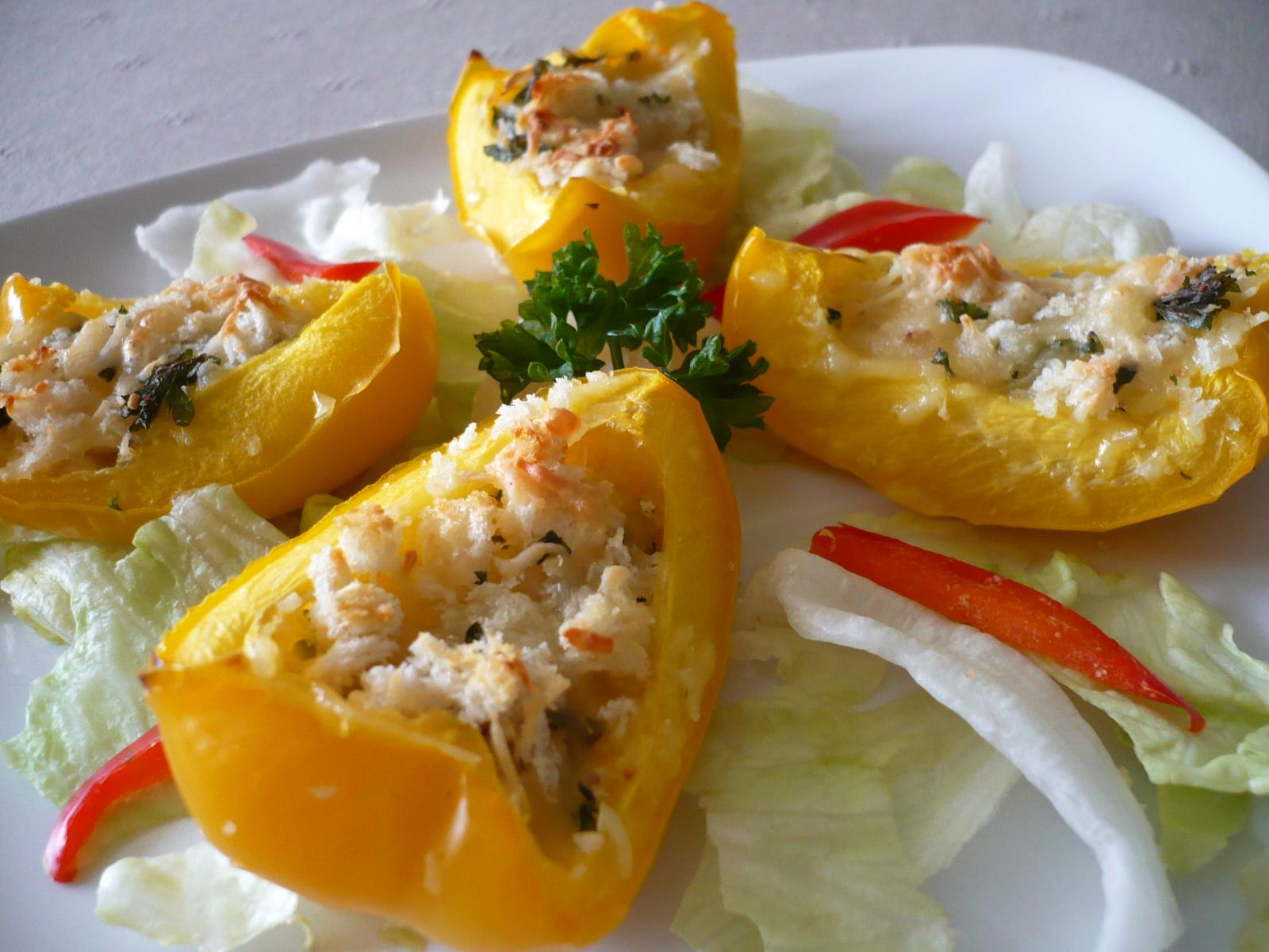 Zapečené plněné papriky