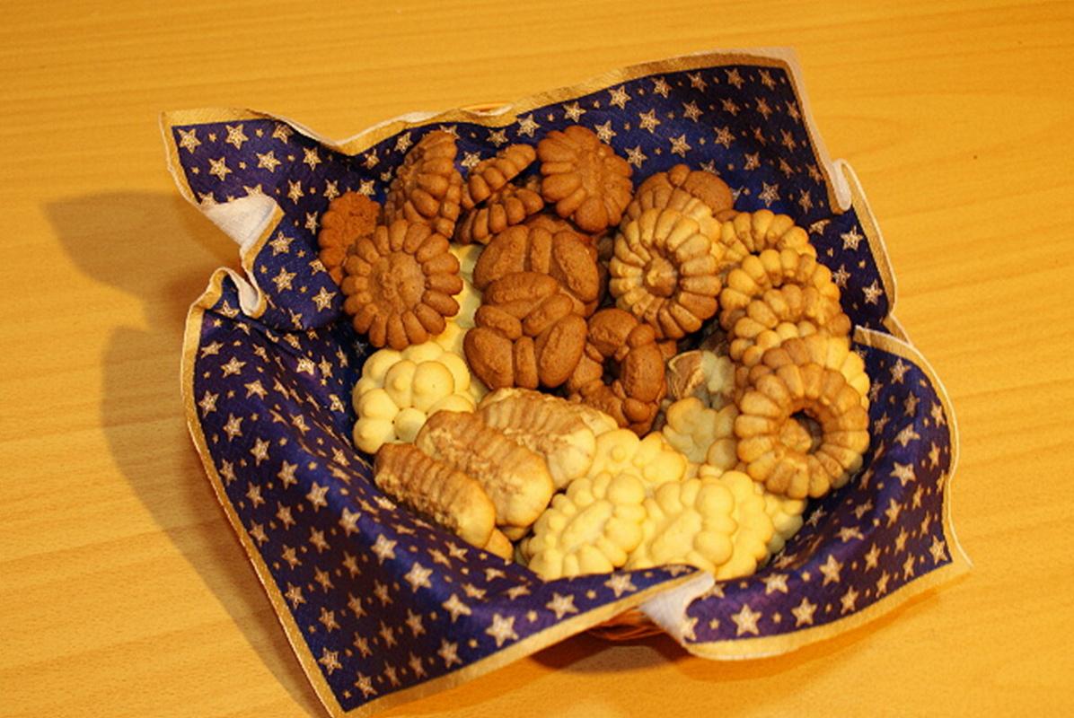 Fotografie receptu: Vanilkové sušenky z lisu na těsto