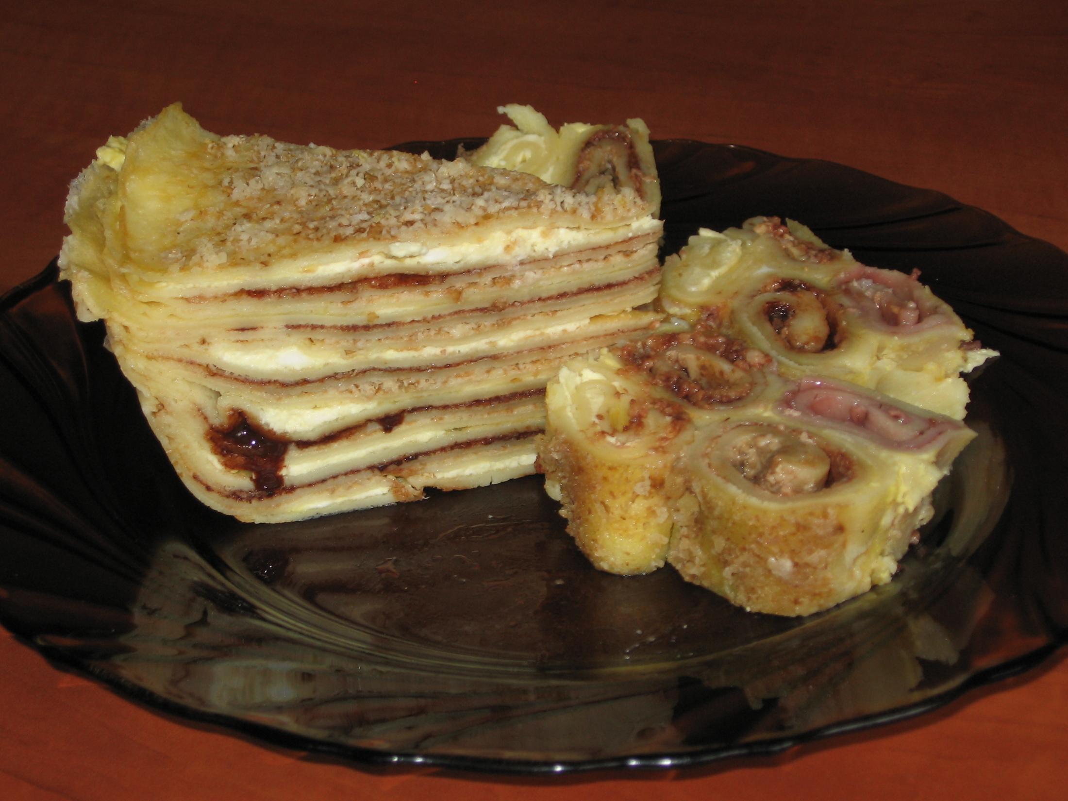 Palačinkový dort s krémem