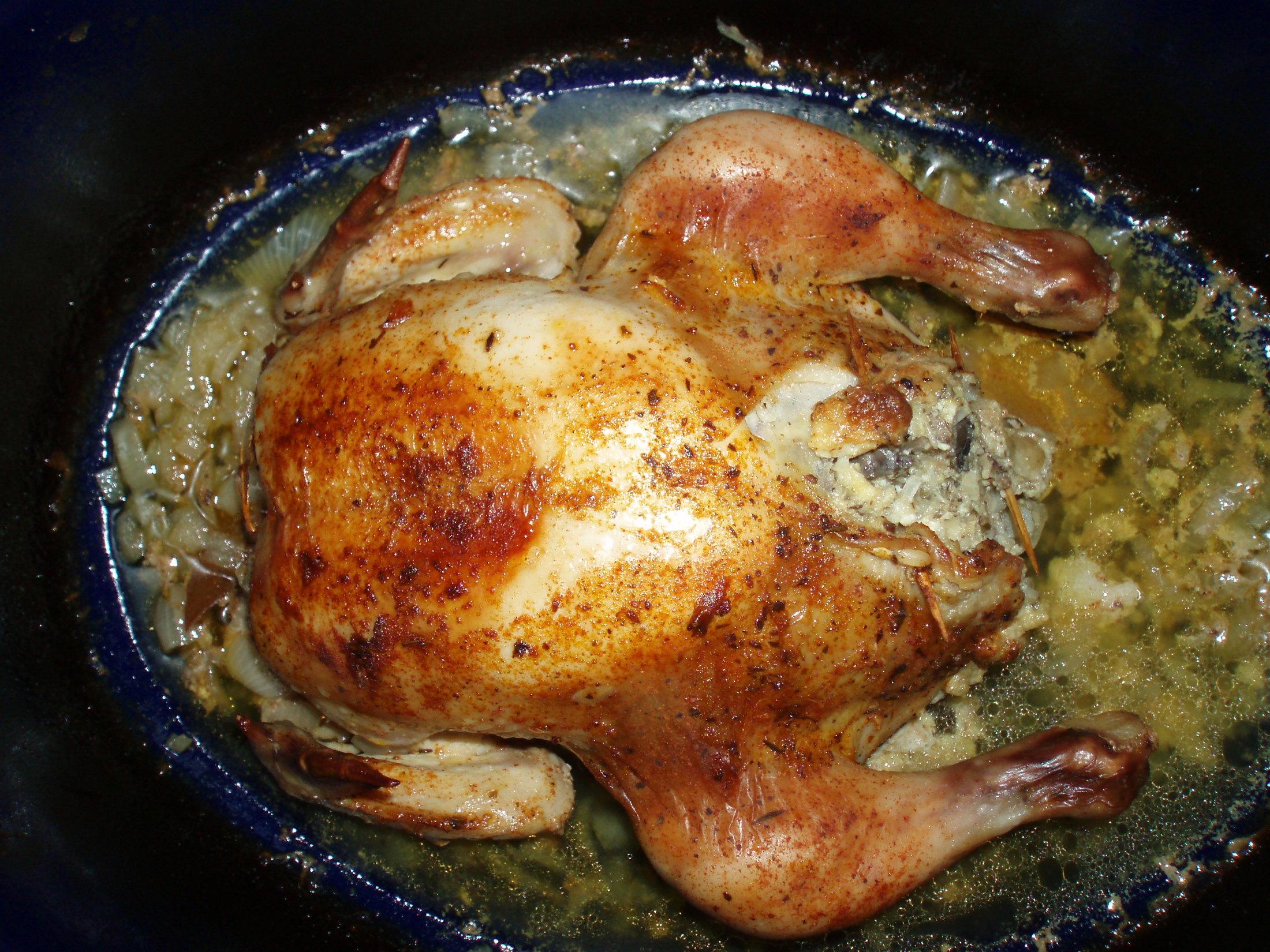 Kuře s žampionovou nádivkou