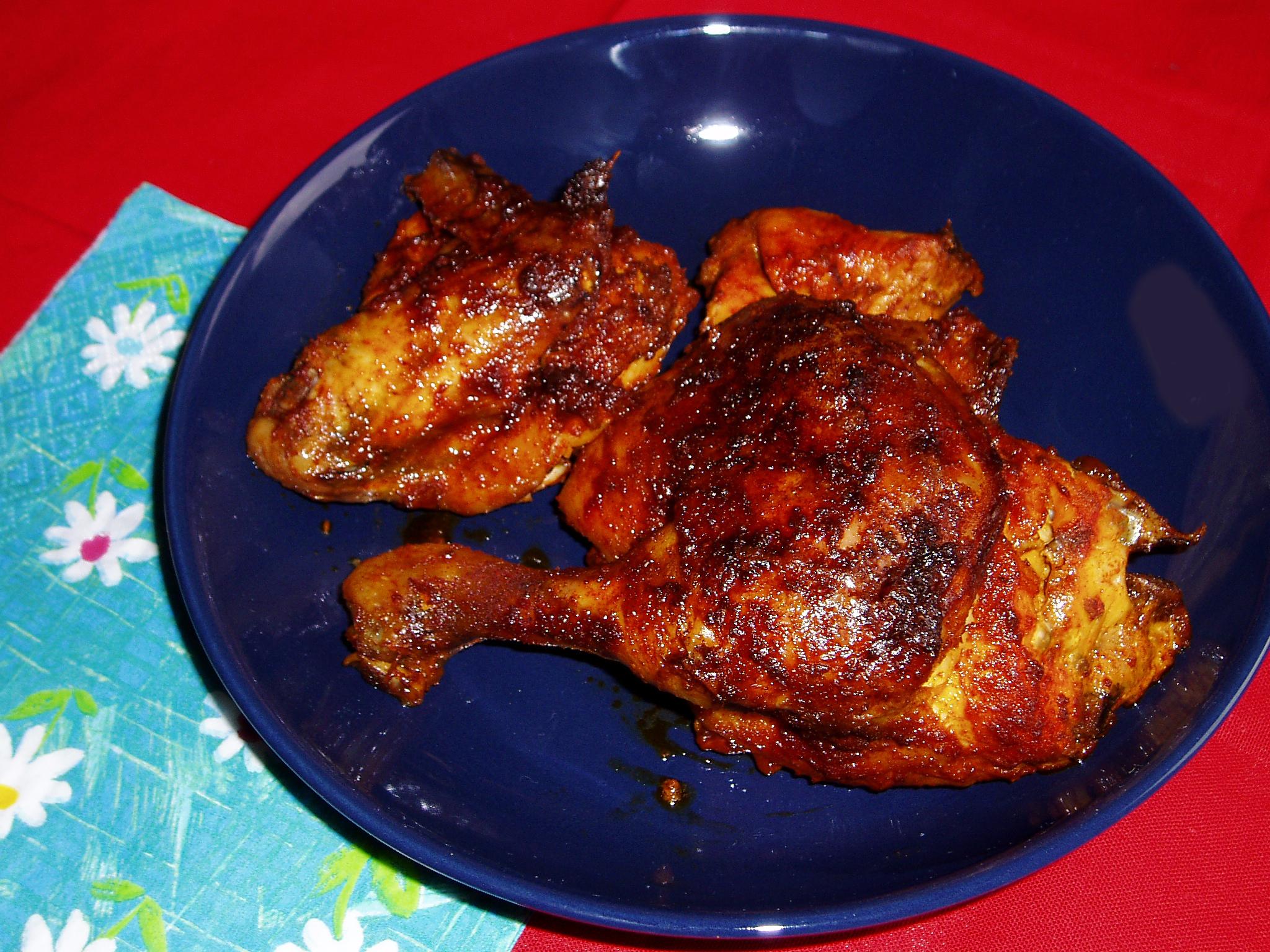 Kuře pečené v porcích