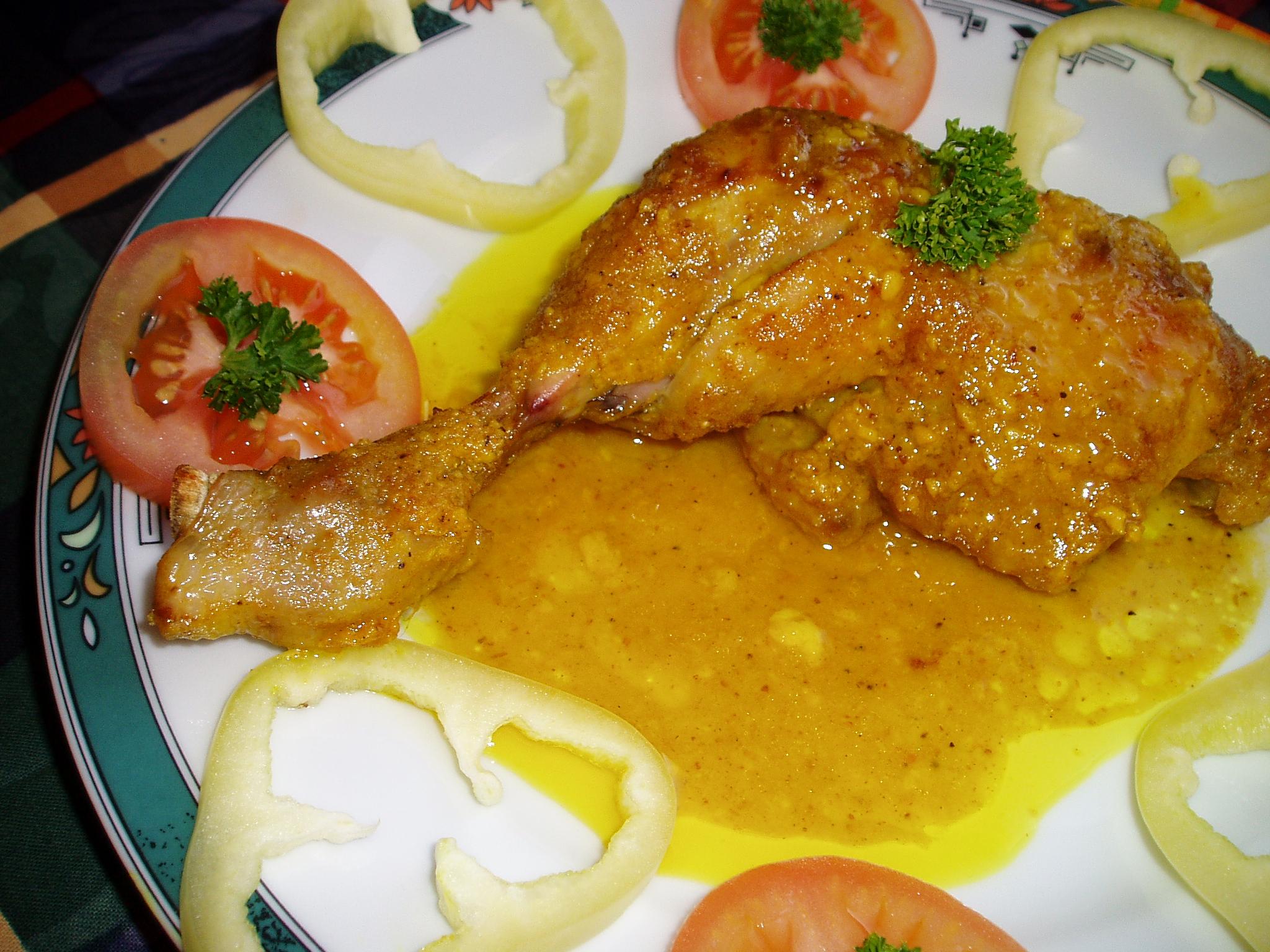 Kuře s medem a kari