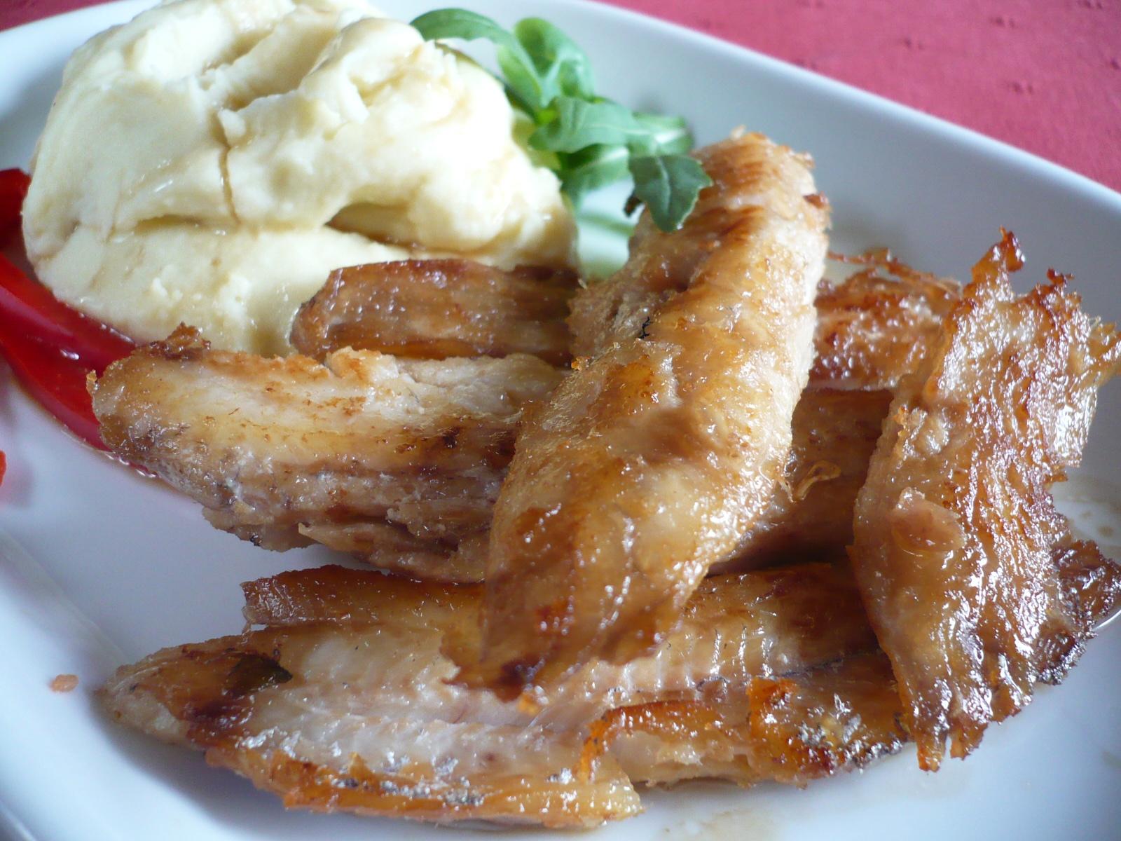 Rybí filety s bramborovou kaší