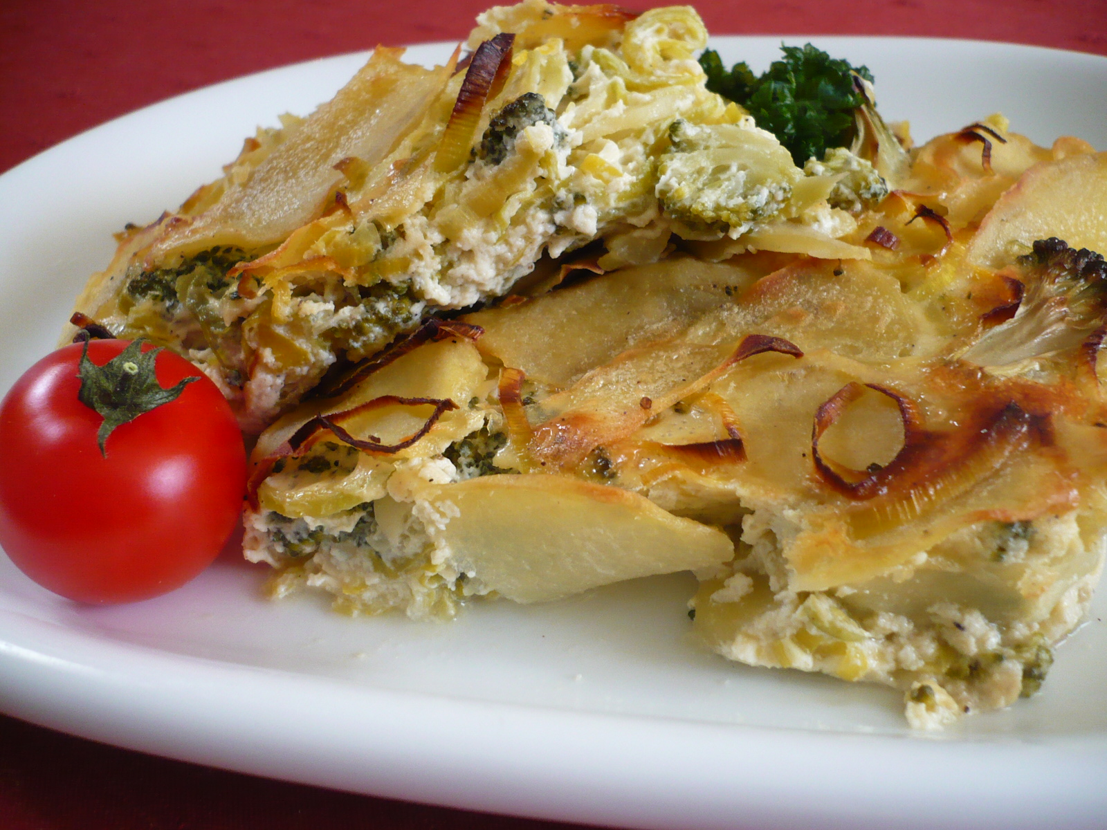 Fotografie receptu: Zapečené brambory s brokolicí