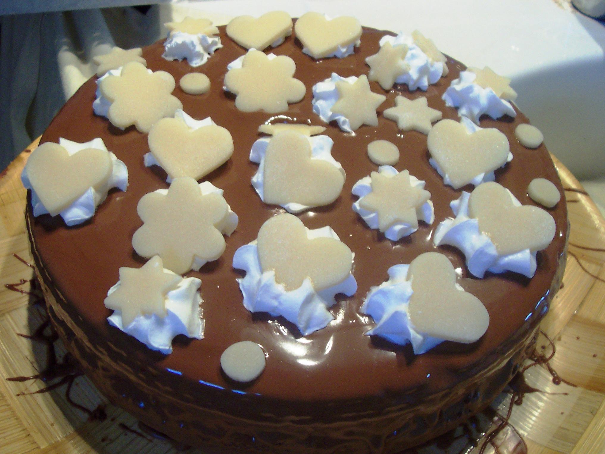 Sladký ořechový dort
