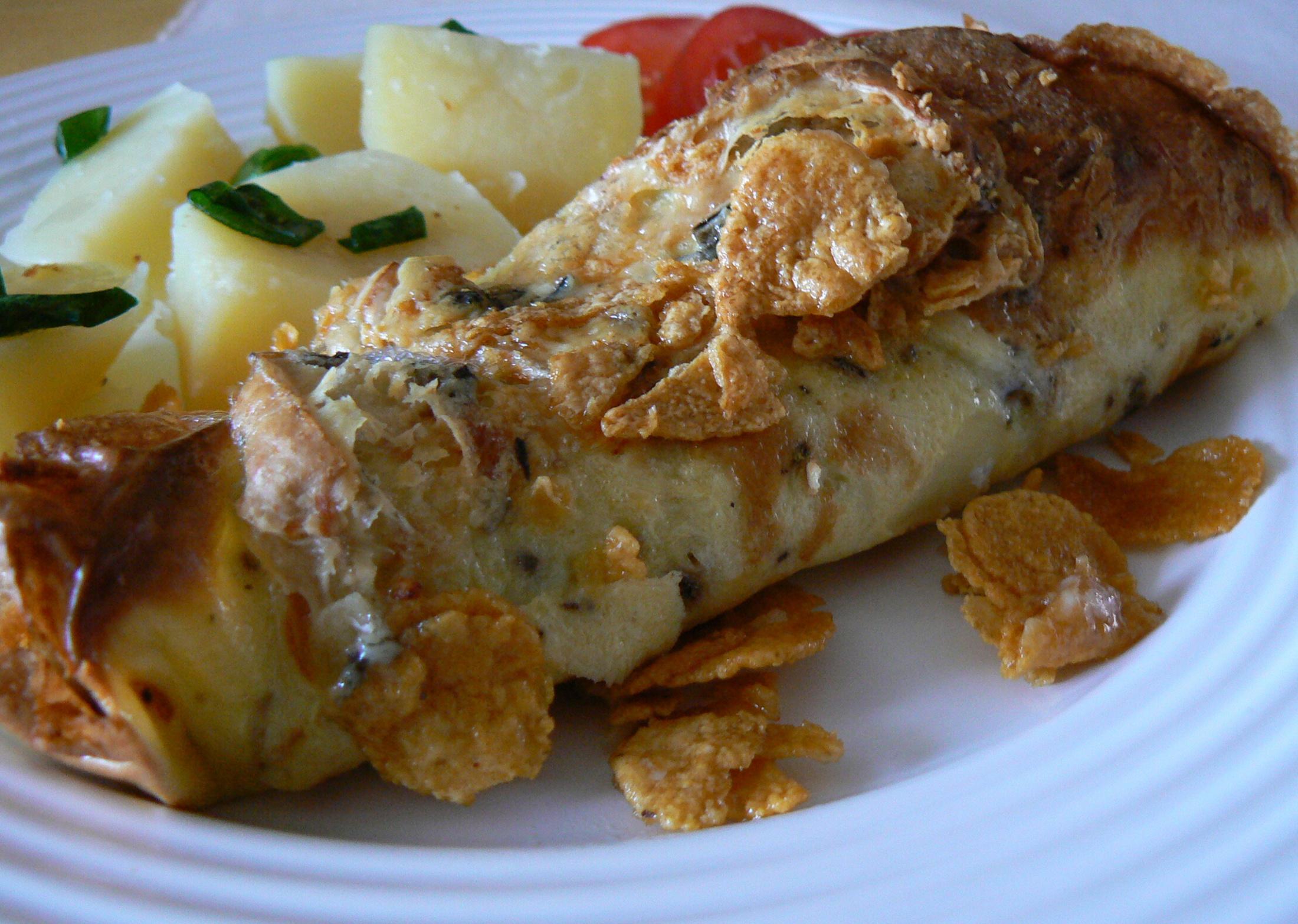 Fotografie receptu: Kuřecí kousky ve vaječné omeletě