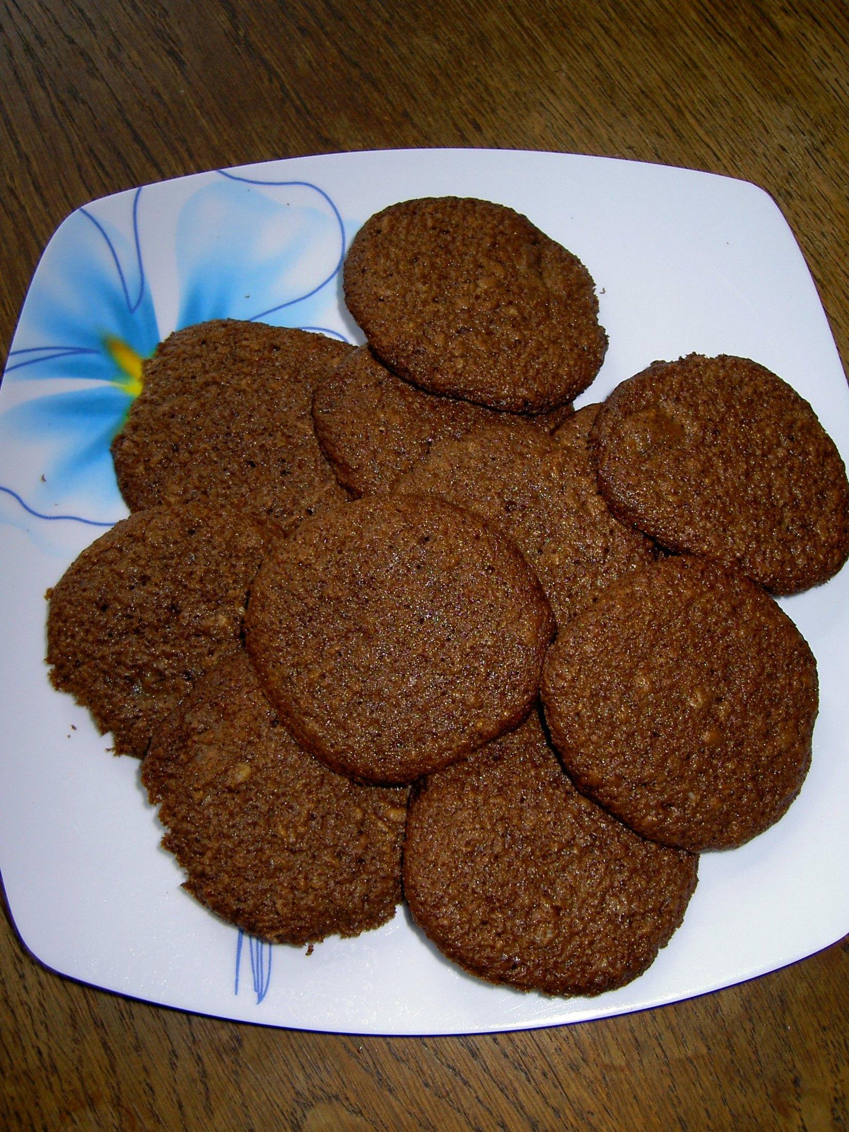 Fotografie receptu: Domácí čokoládové sušenky s vločkami