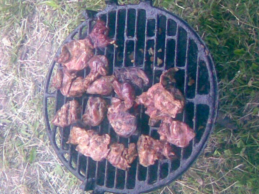 Kachní játra na grilu