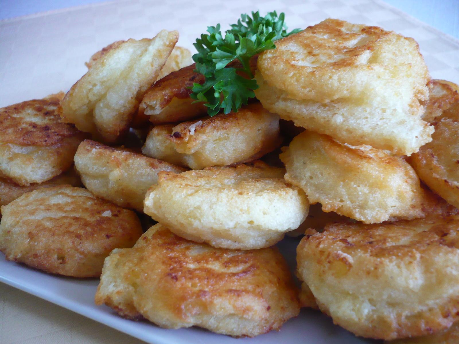 Smažené bramborové knedlíčky