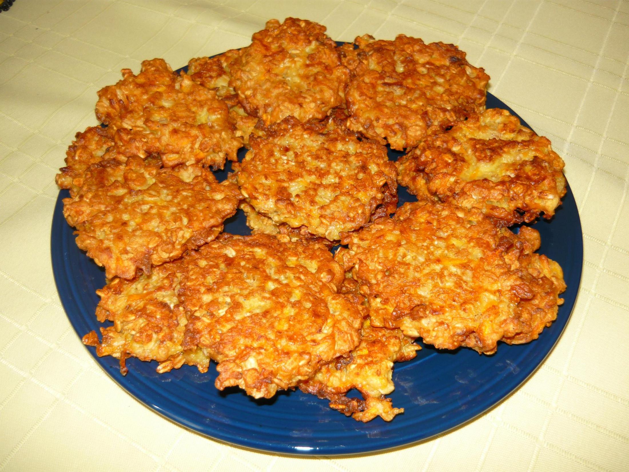 Fotografie receptu: Placičky z ovesných vloček a mrkve