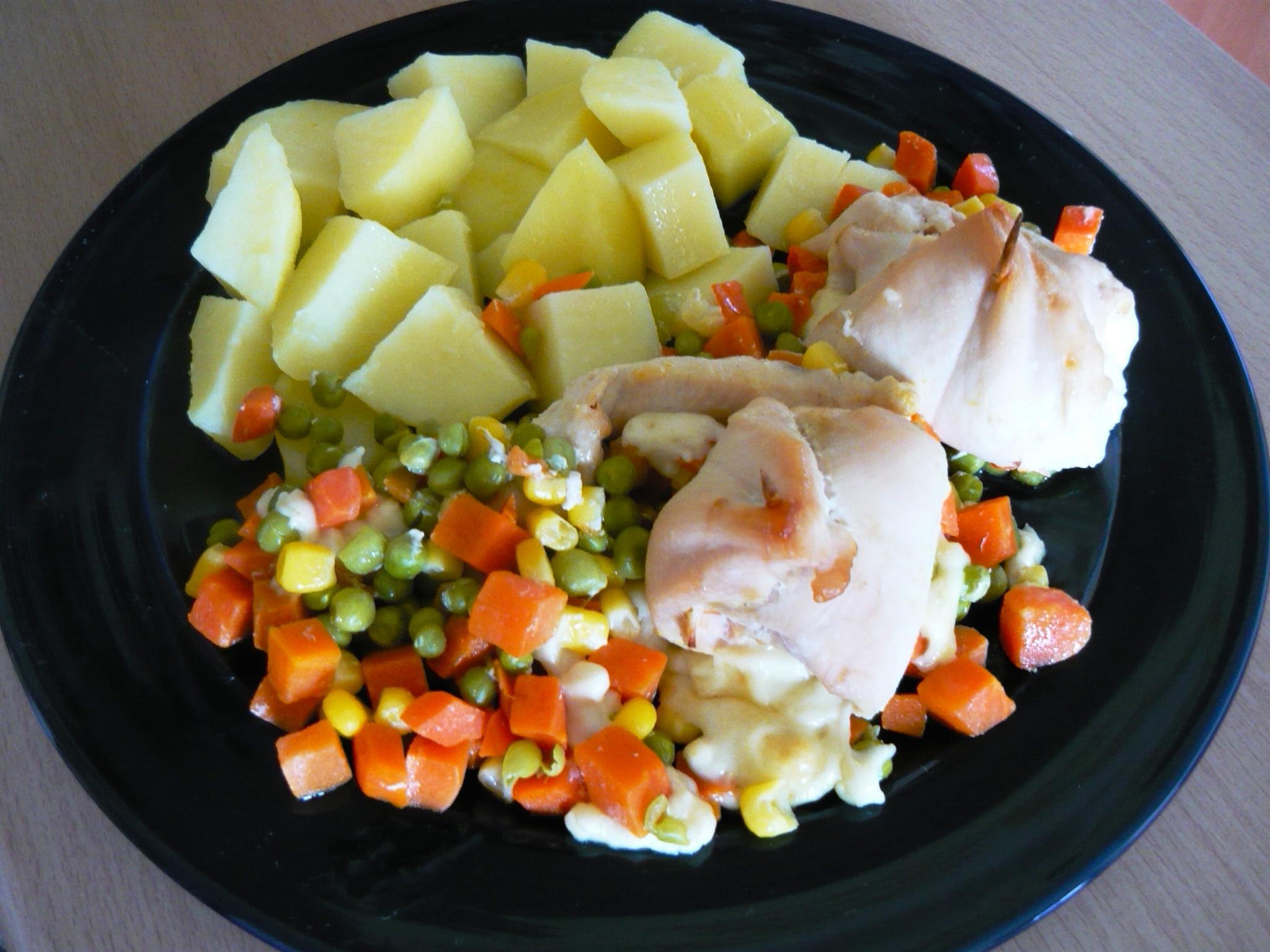 Fotografie receptu: Kuřecí rolky se sýrem a zeleninou