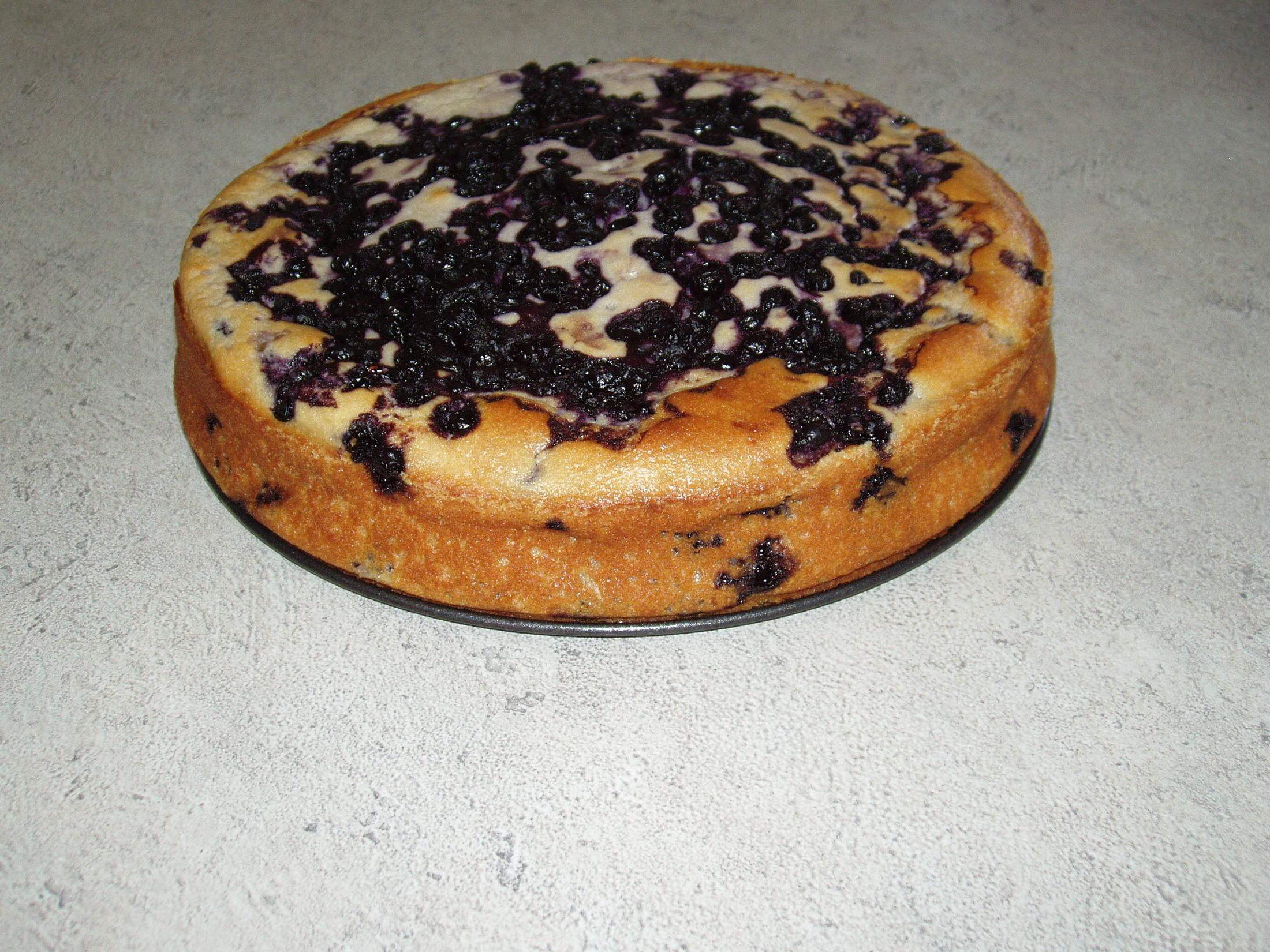 Borůvkový koláč s kefírem