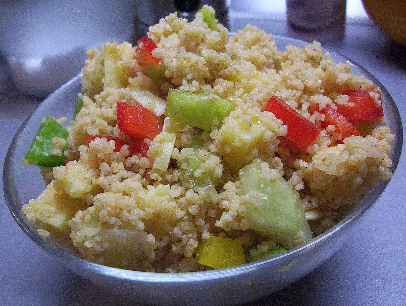 Fotografie receptu: Celozrnný kuskus se zeleninou a sýrem