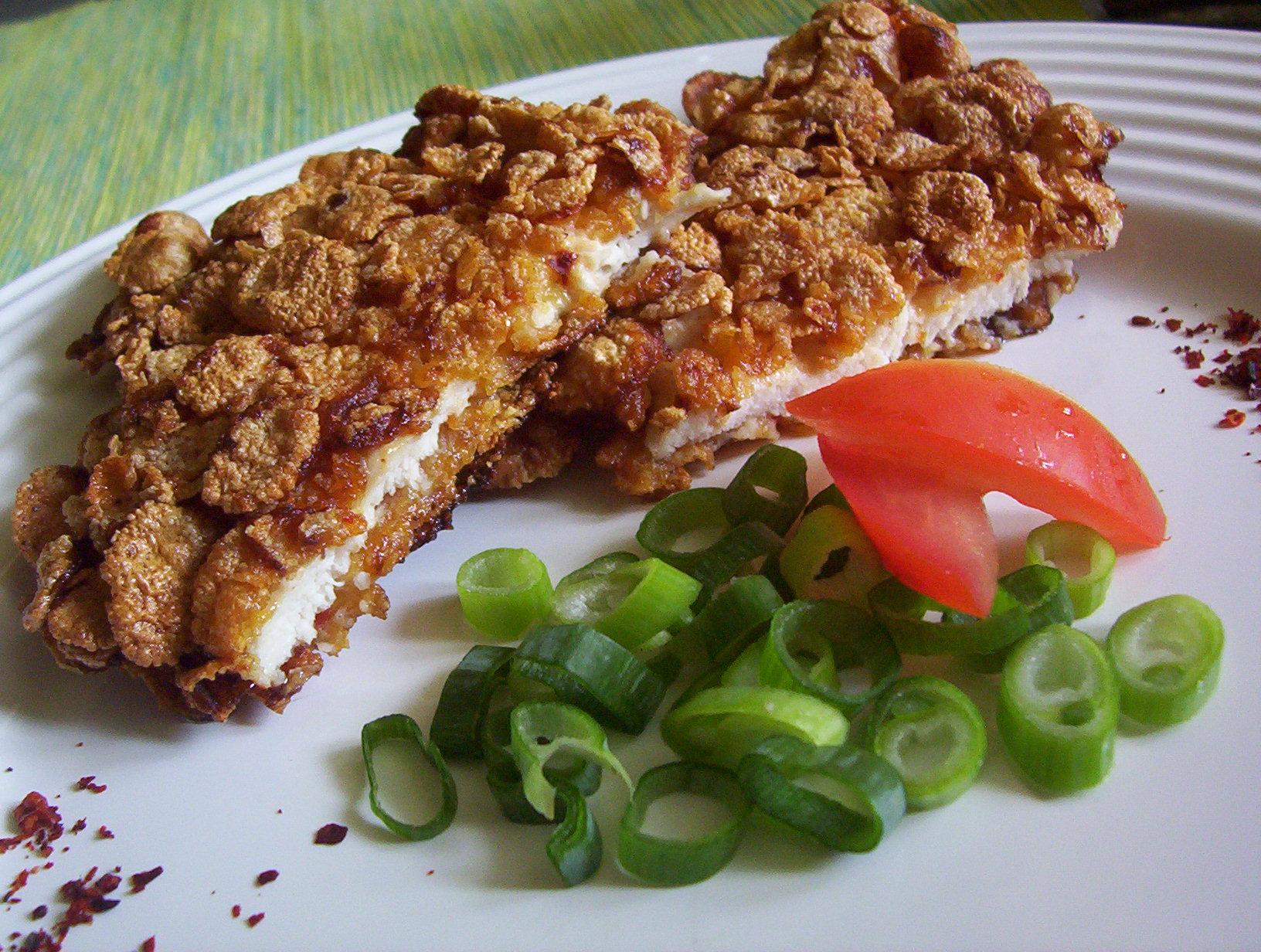 Fotografie receptu: Kuřecí řízek v cornflakes