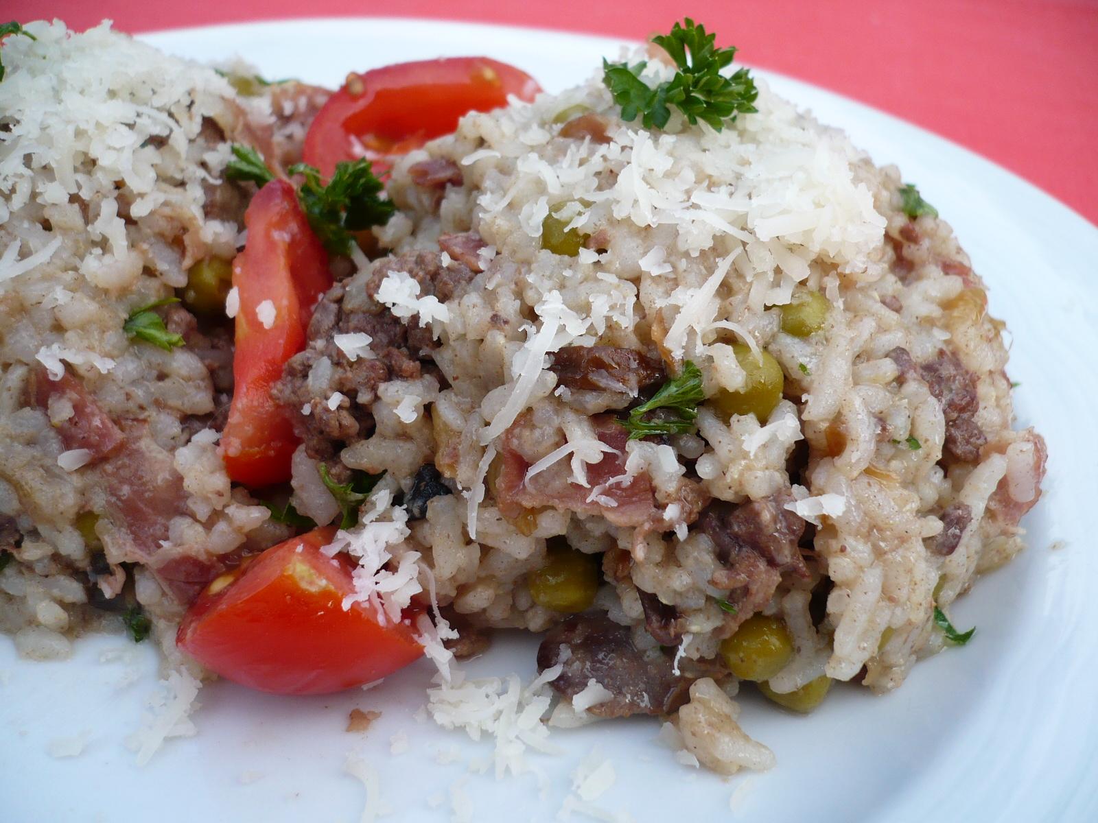 Fotografie receptu: Houbové rizoto s kuřecími játry