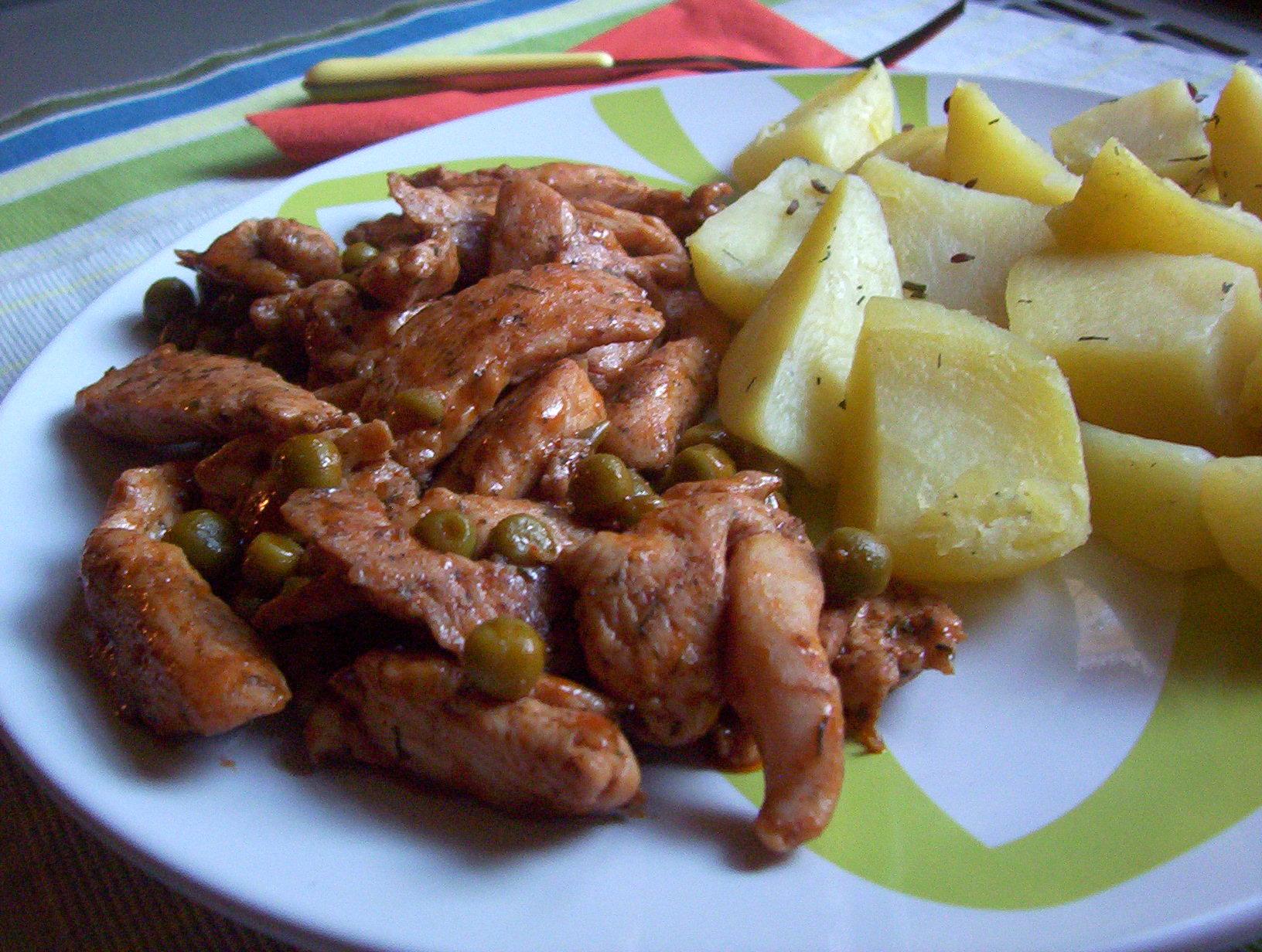 Fotografie receptu: Adžika kuřecí nudličky