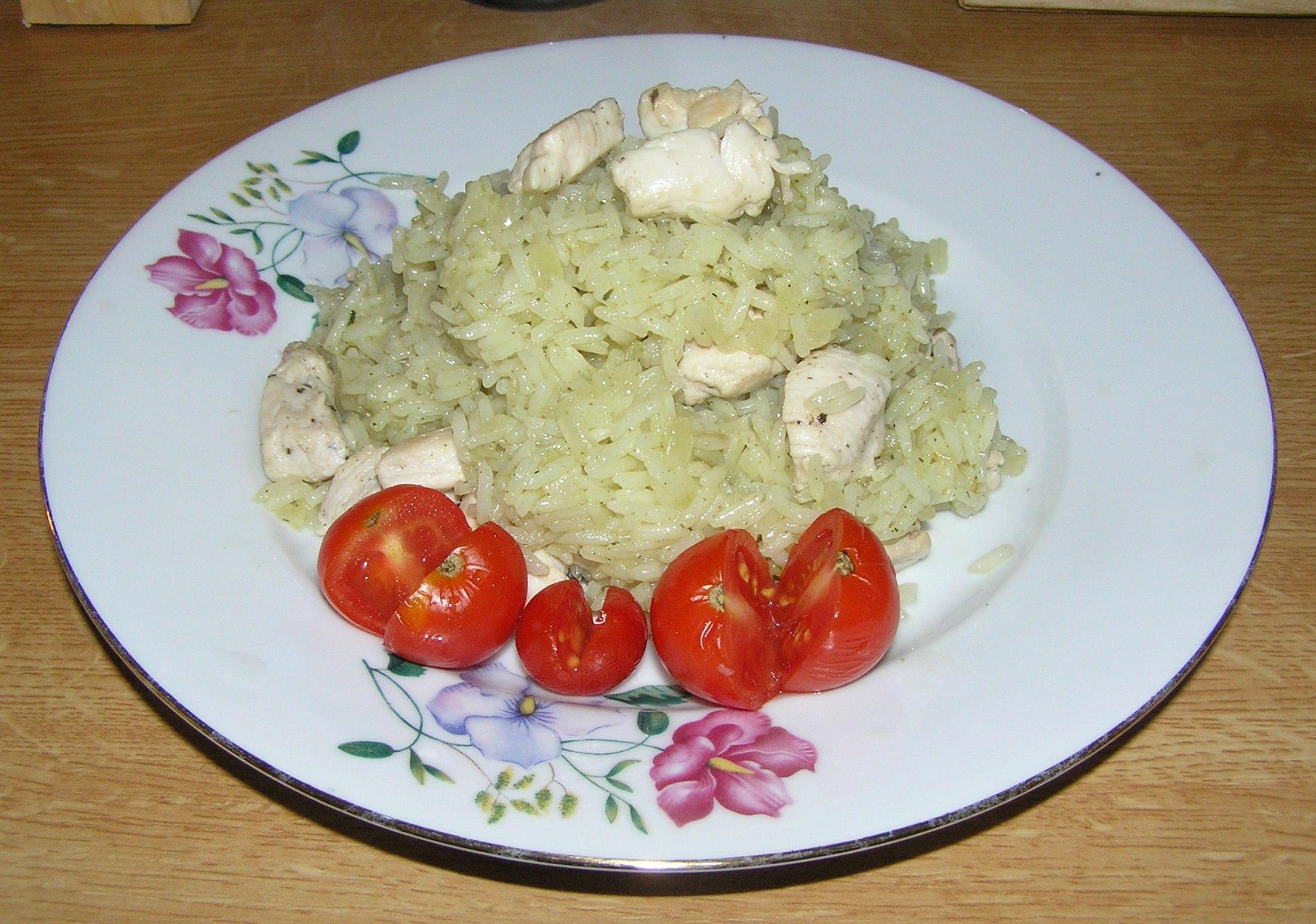 Jednoduché rizoto s kuřecím masem