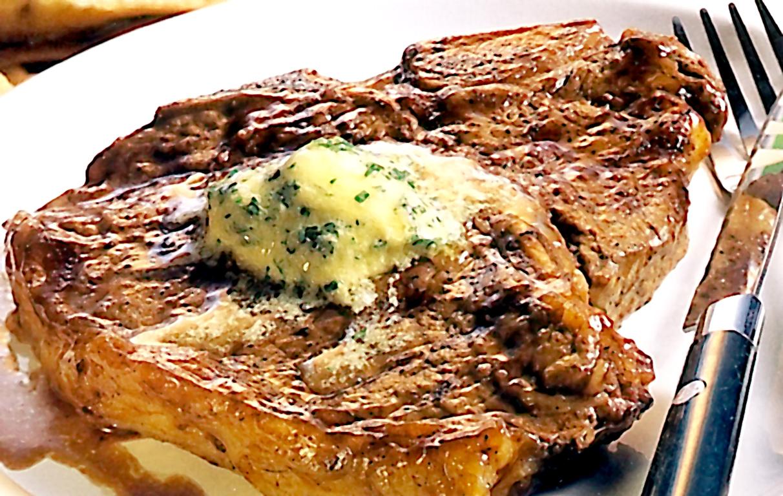 Fotografie receptu: Steak z hovězí kotlety