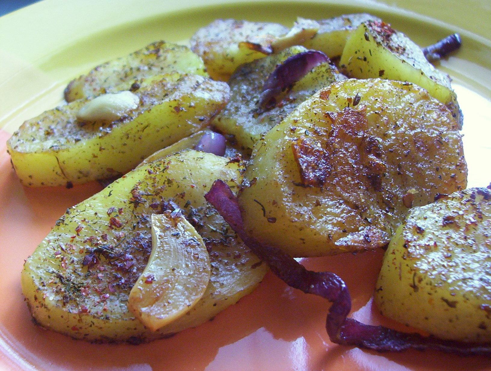 Grilované bramborové plátky