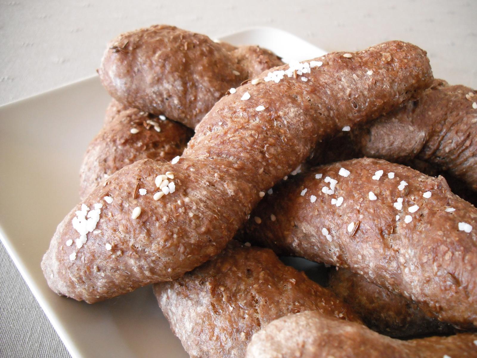 Domácí chlebové rohlíky