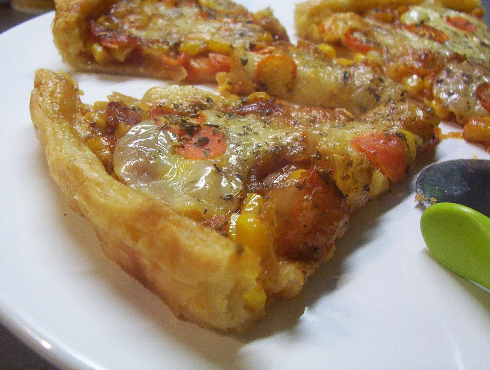 Mozzarella listový koláč