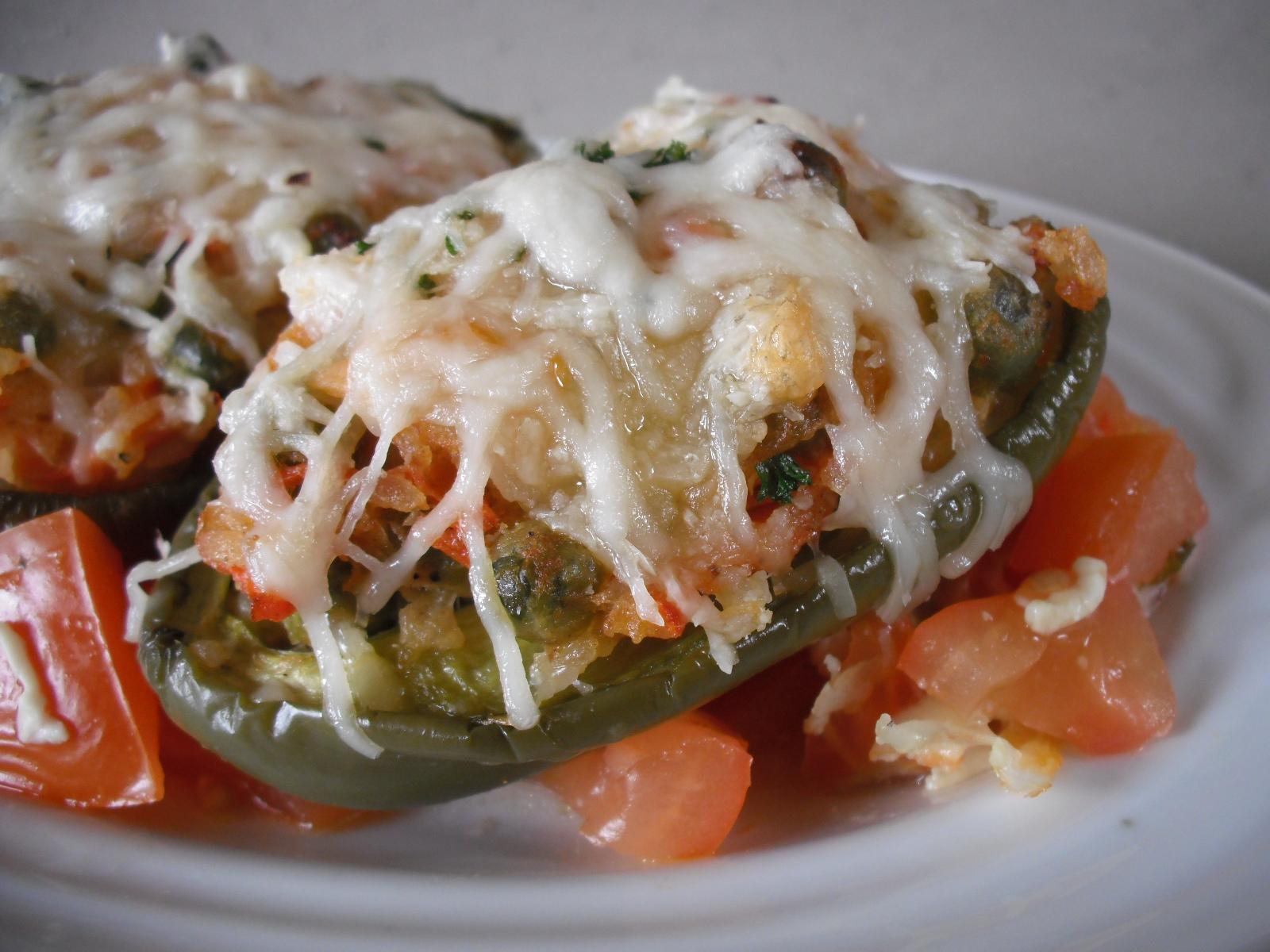 Fotografie receptu: Vegetariánské plněné papriky