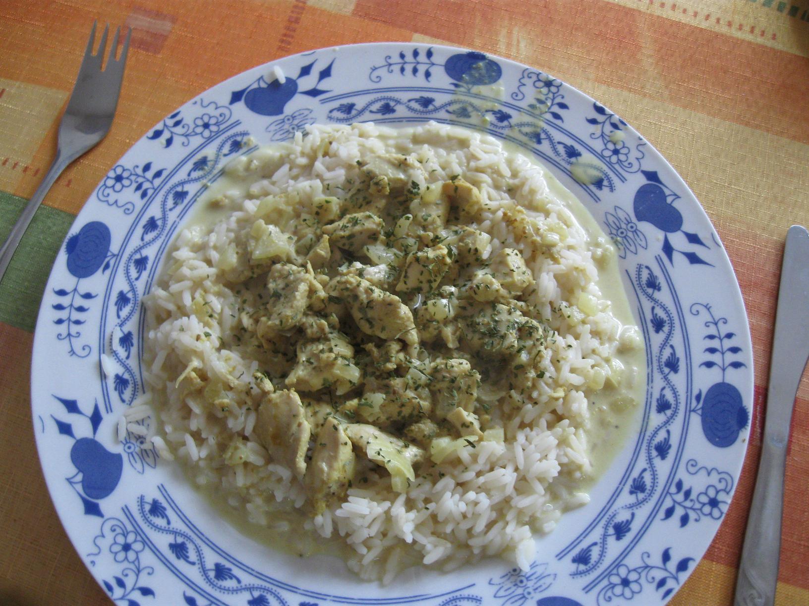 Fotografie receptu: Kuřecí kousky v kokosovém mléce
