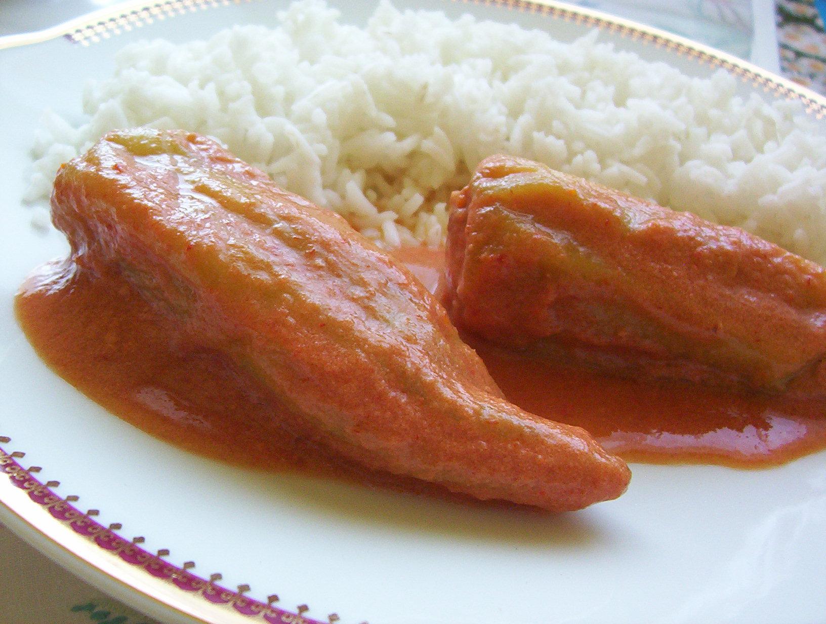 Papriky v rajské omáčce