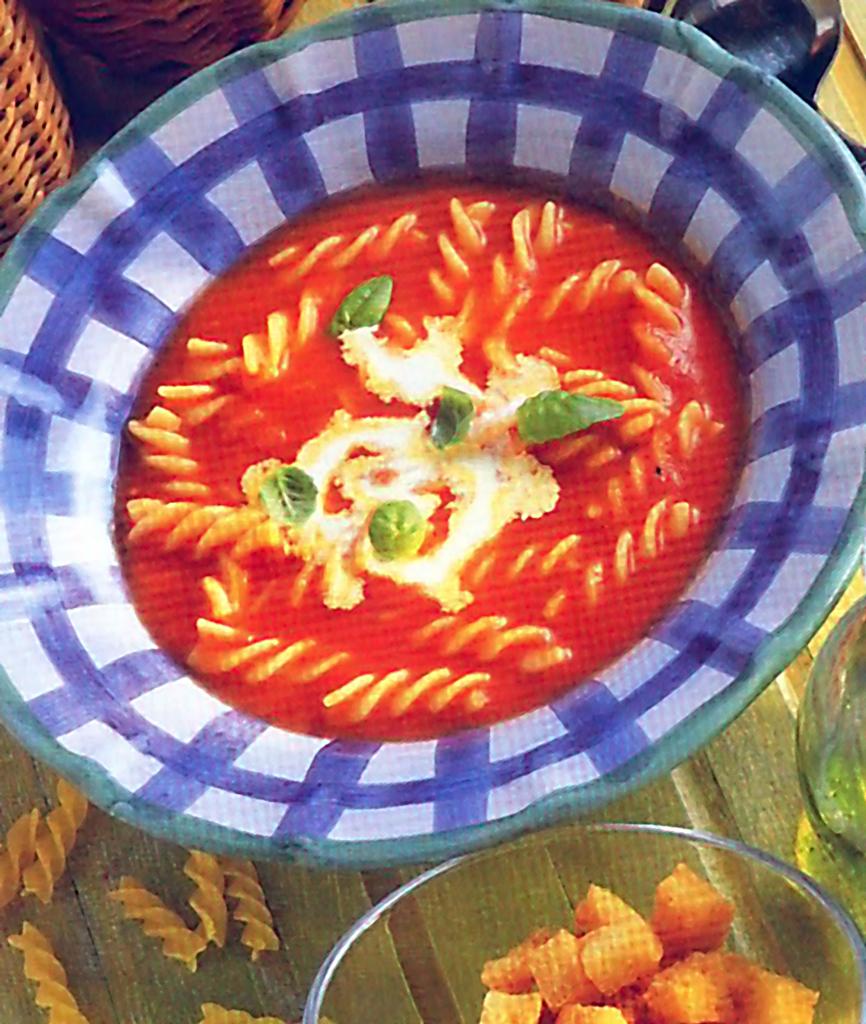 Italská krémová rajčatová polévka
