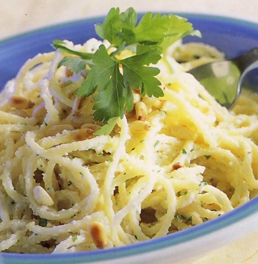 Fotografie receptu: Špagety se sýrem ricotta