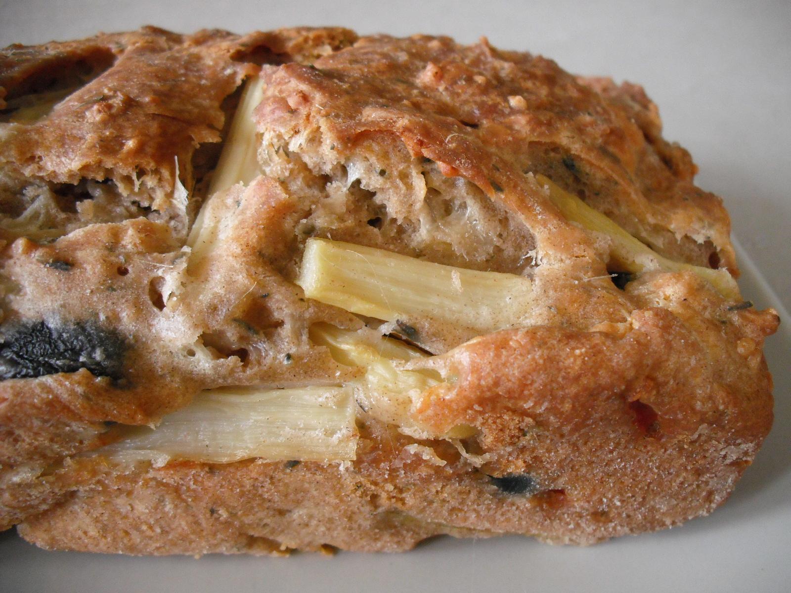 Sýrový chléb s chřestem