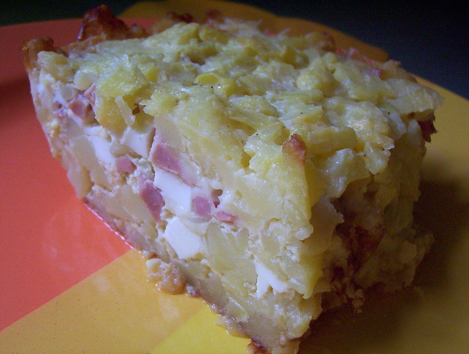 Francouzské brambory s uzeninou