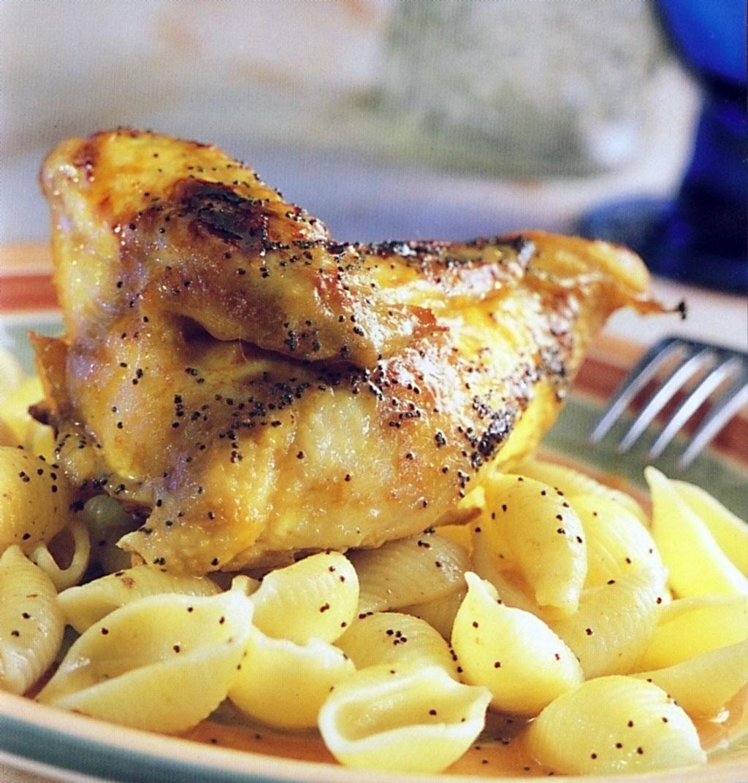 Pečené kuřecí maso s mušličkami