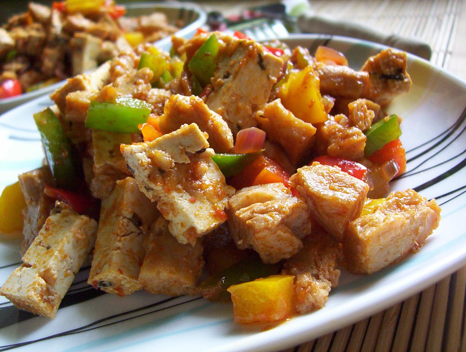 Sója s tofu na kari