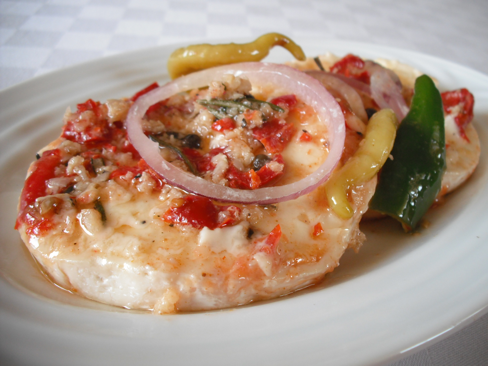 Fotografie receptu: Pikantní hermelín v oleji