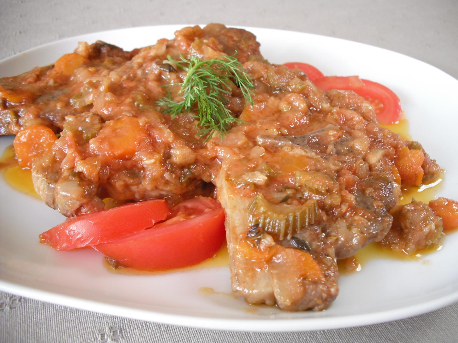 Fotografie receptu: Dušené jehněčí na zelenině