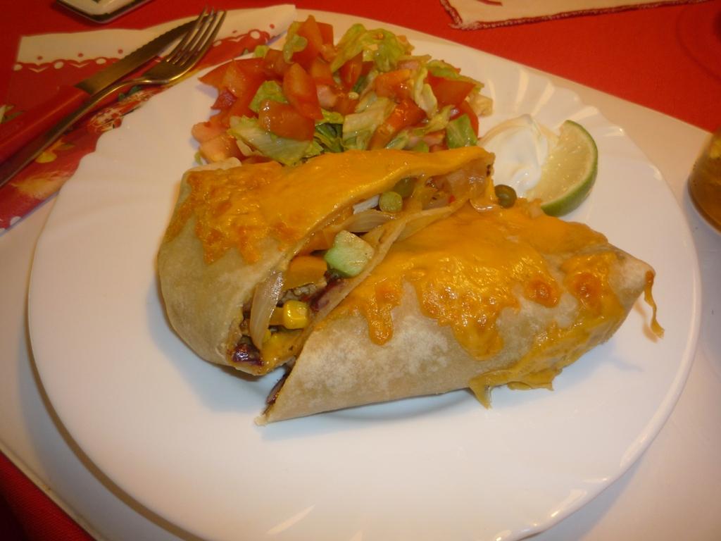 Plněné tortilly