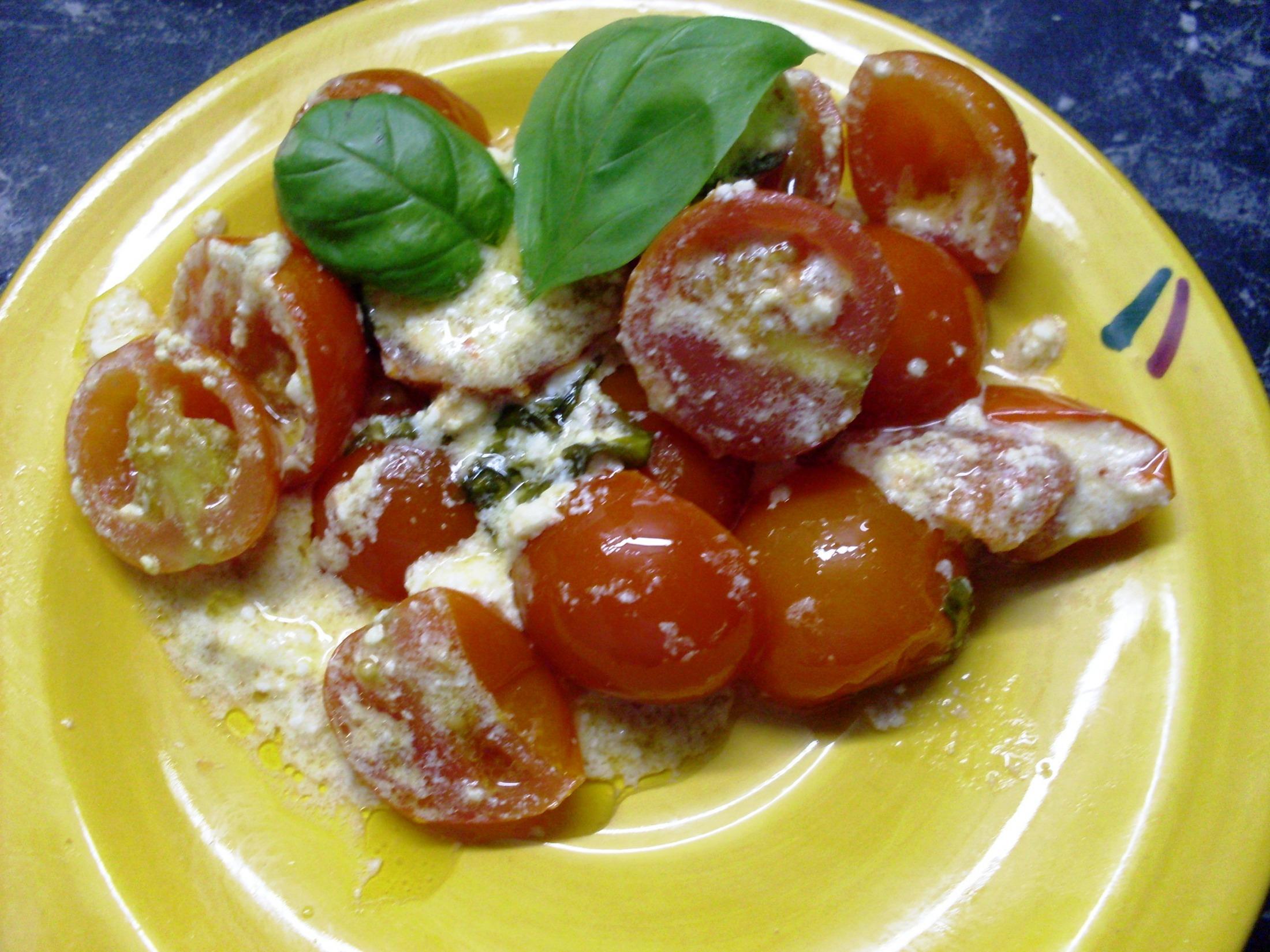 Pečená cherry rajčátka s žervé
