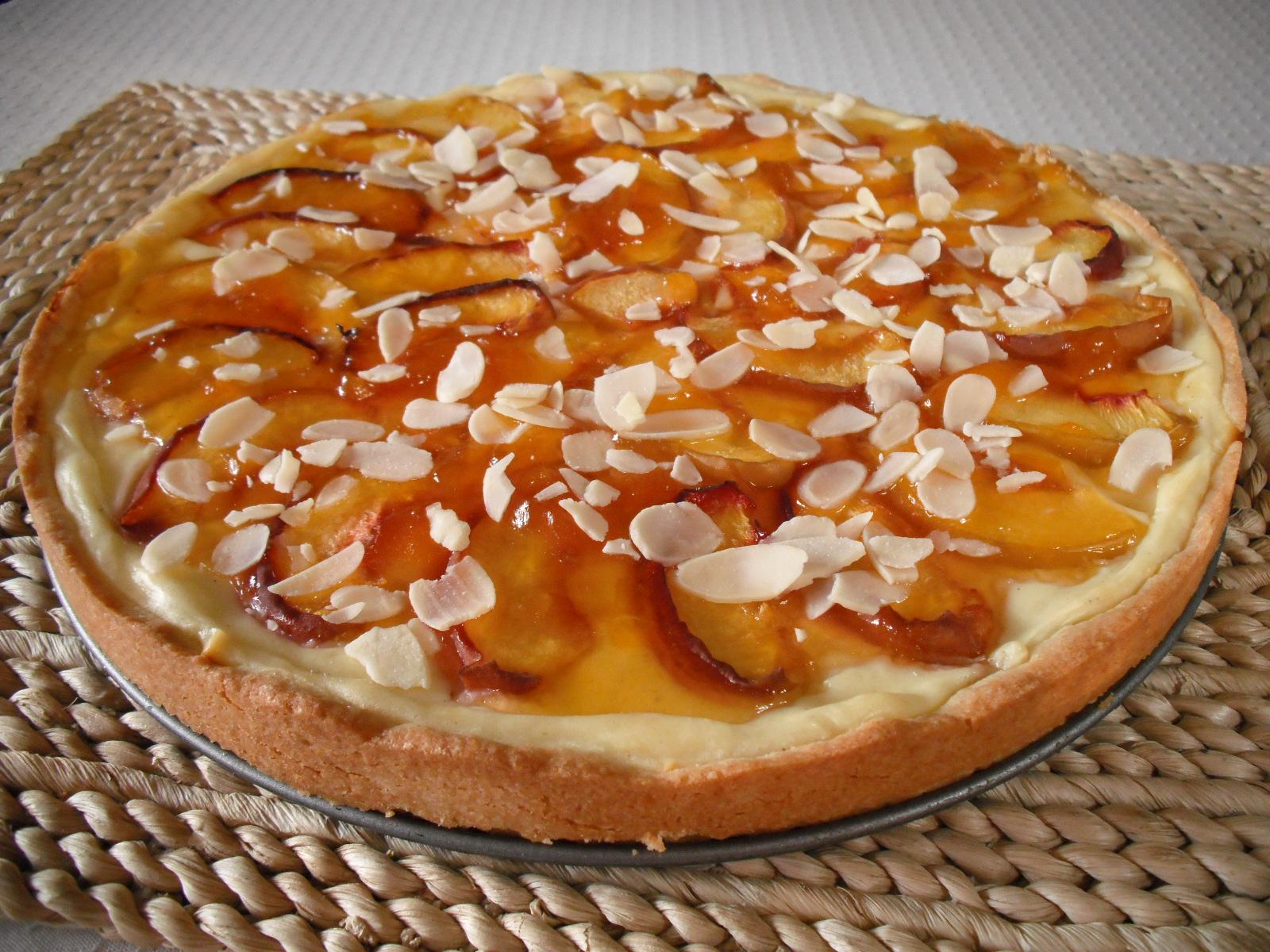 Ovocný koláč z křehkého těsta