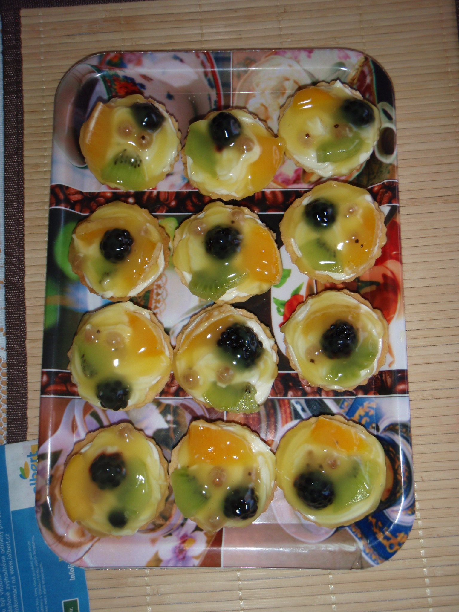 Ovocné košíčky s krémem