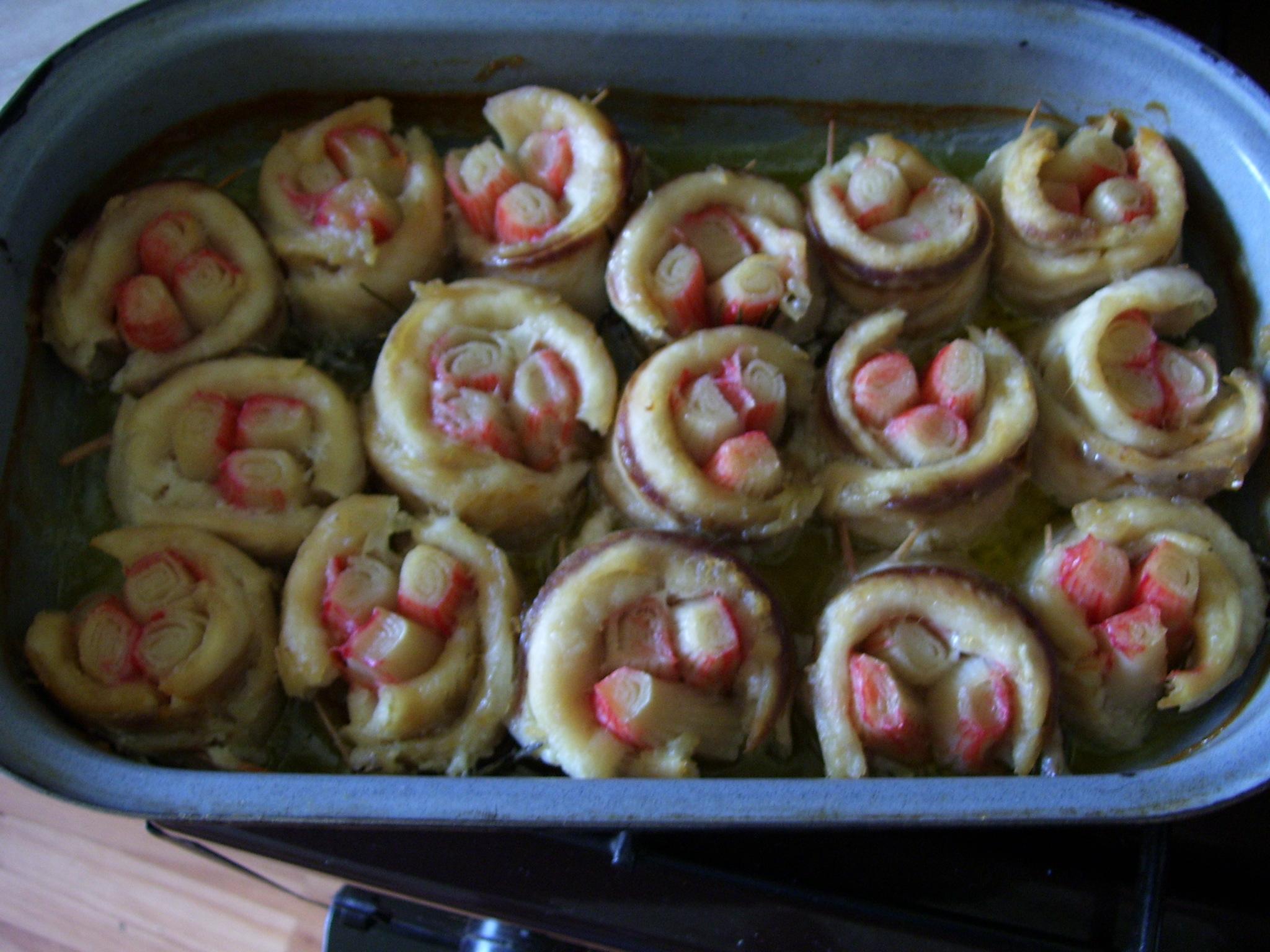 Fotografie receptu: Pangasius plněný tyčinkami surimi