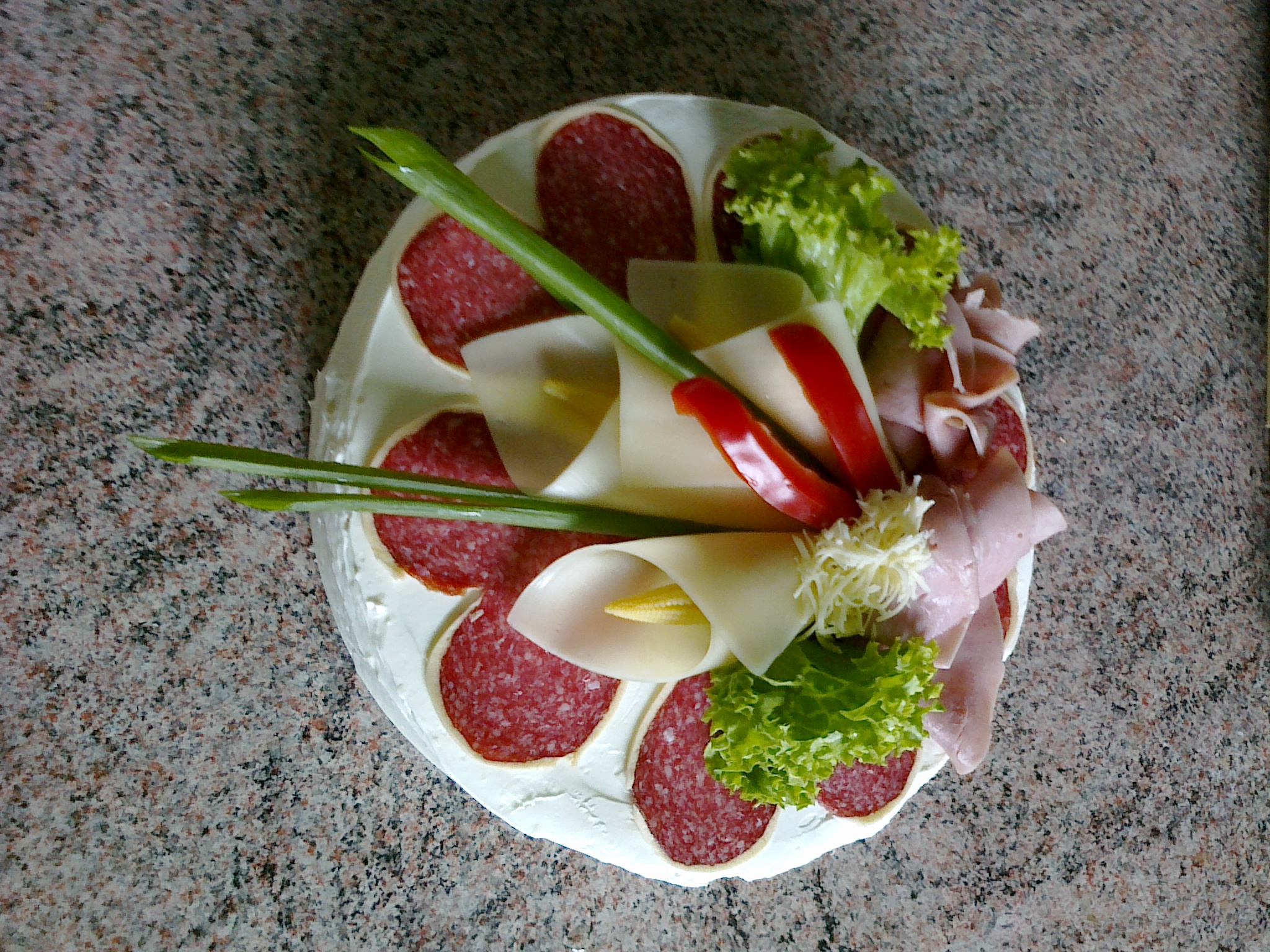 Slaný narozeninový dort