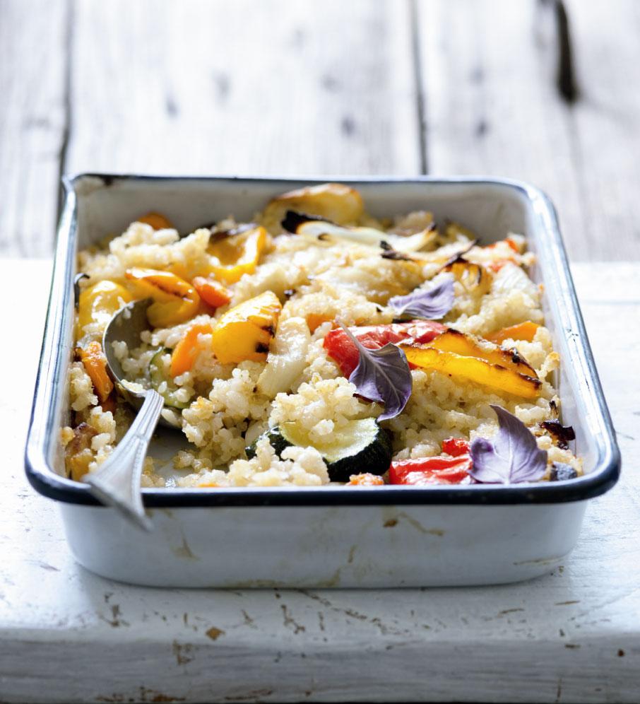 Rizoto s quionoou a pečenou zeleninou