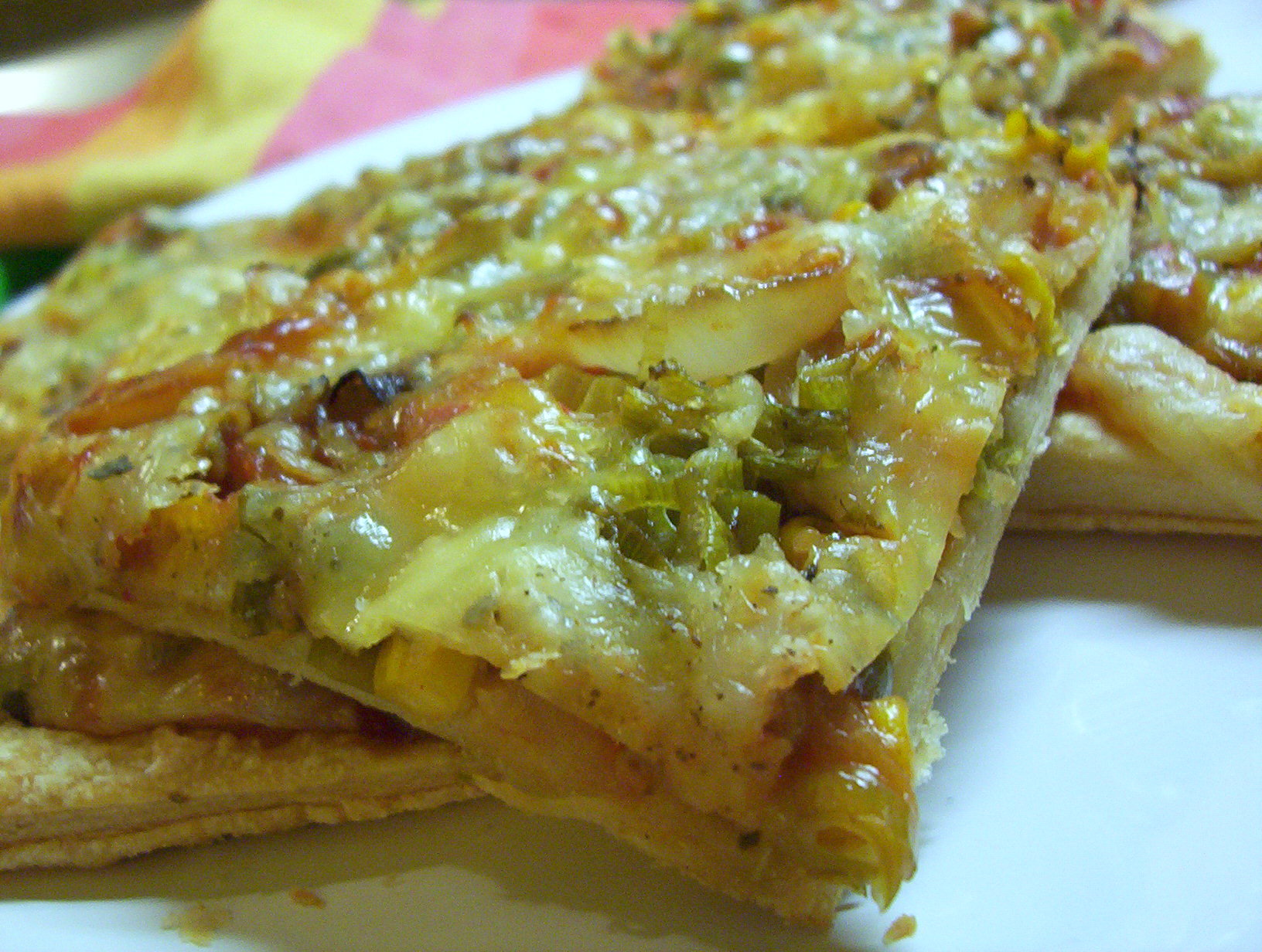 Zeleninové pizza kousky