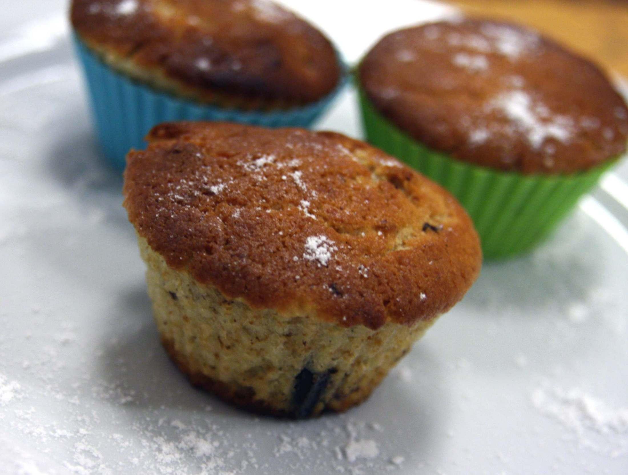 Muffiny se švestkami a čokoládou