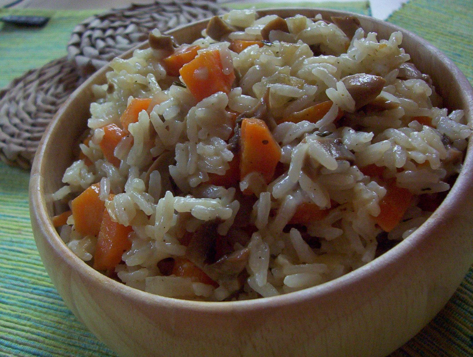 Houbovo-mrkvové rizoto