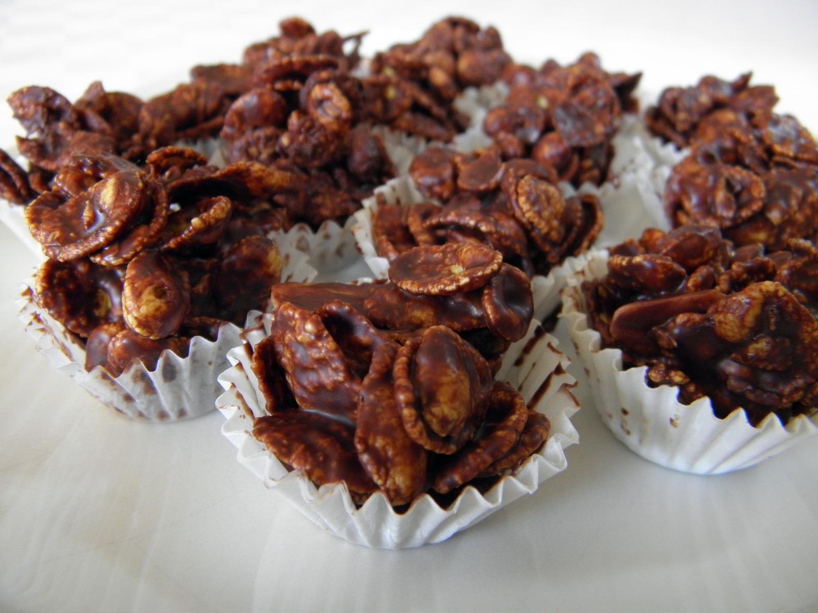 Křupavé čokoládové hrudky
