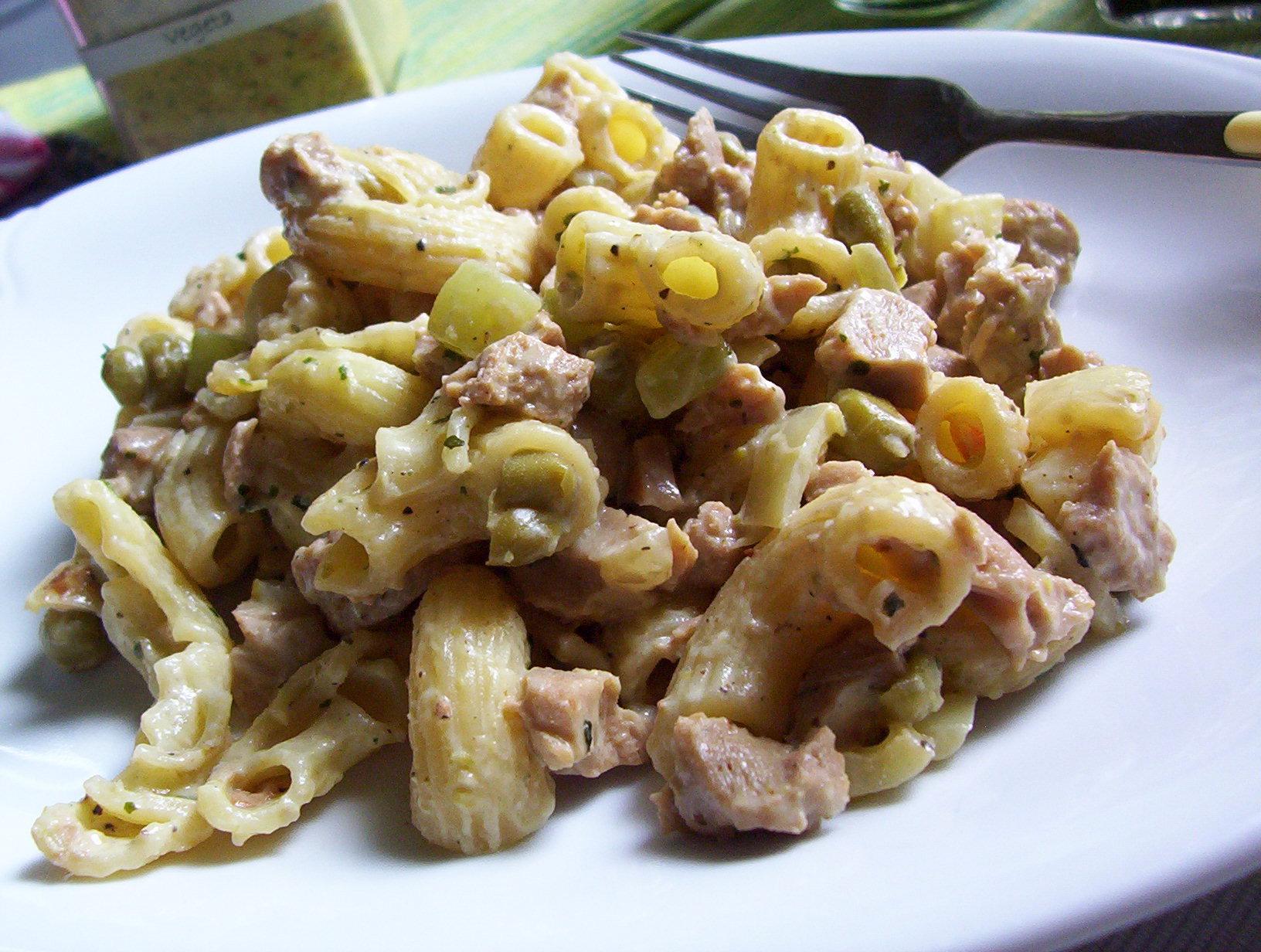 Fotografie receptu: Těstovinový salát se sójou a zeleninou